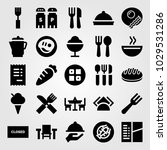 restaurant vector icon set.... | Shutterstock .eps vector #1029531286