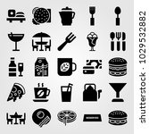 restaurant vector icon set.... | Shutterstock .eps vector #1029532882