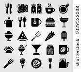 restaurant vector icon set.... | Shutterstock .eps vector #1029533038