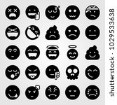 emotions vector icon set. poo ... | Shutterstock .eps vector #1029533638