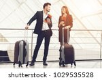 businessman and business woman... | Shutterstock . vector #1029535528