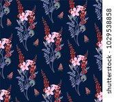 print flower pattern gently...   Shutterstock .eps vector #1029538858