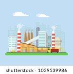 industrial factory buildings... | Shutterstock .eps vector #1029539986
