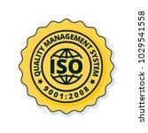 iso 9001 2015 label illustration | Shutterstock .eps vector #1029541558
