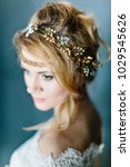 young beautiful bride with a... | Shutterstock . vector #1029545626
