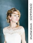 young beautiful bride with a...   Shutterstock . vector #1029545632