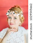 young beautiful bride with a...   Shutterstock . vector #1029545662