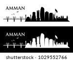 amman skyline   jordan   vector ... | Shutterstock .eps vector #1029552766