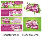 """spring sale""  ""summer sale""... | Shutterstock .eps vector #1029553996"