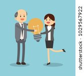 business teamwork cartoon | Shutterstock .eps vector #1029567922