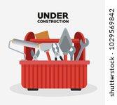under construction toolbox | Shutterstock .eps vector #1029569842