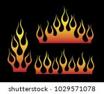 decoration .flame tongues for... | Shutterstock .eps vector #1029571078