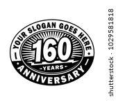 160 years anniversary....   Shutterstock .eps vector #1029581818