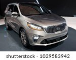 Small photo of TORONTO-FEBRUARY 15: at the 2018 Canadian International AutoShow, the all new KIA Sorento SUV with 3.3-liter V6 with and new 8-speed automatic transmission.