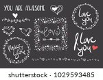 valentines day romantic set... | Shutterstock .eps vector #1029593485