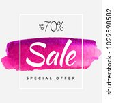 watercolor special offer  super ... | Shutterstock .eps vector #1029598582
