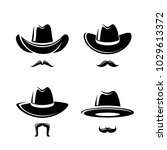 cowboy hat set. vector | Shutterstock .eps vector #1029613372