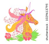 colorful zentangle style... | Shutterstock .eps vector #1029613795