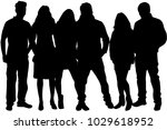 group of people. crowd of... | Shutterstock .eps vector #1029618952