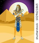 cursed evil egyptian mummy | Shutterstock .eps vector #1029621865