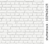 vector white brick wall... | Shutterstock .eps vector #1029626125