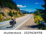 bicycle tour at patagonia ... | Shutterstock . vector #1029636958