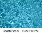 blue swimming pool rippled... | Shutterstock . vector #1029640792