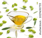 olive oil in the sauceboat and... | Shutterstock . vector #1029650755