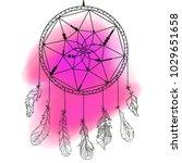 dreamcatcher. zentangle.... | Shutterstock .eps vector #1029651658