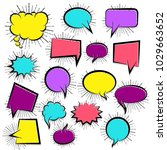 set hand drawn blank template... | Shutterstock .eps vector #1029663652
