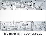 vector circuit for... | Shutterstock .eps vector #1029665122