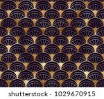 art deco seamless pattern with... | Shutterstock .eps vector #1029670915