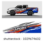 truck car and vehicle racing... | Shutterstock .eps vector #1029674632