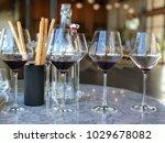 wine tasting at modern winery... | Shutterstock . vector #1029678082