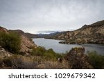 canyon lake in the superstition ... | Shutterstock . vector #1029679342