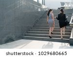 two successful asian business...   Shutterstock . vector #1029680665