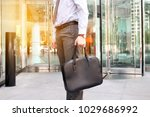 businessman standing with... | Shutterstock . vector #1029686992