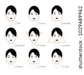 woman face types on white... | Shutterstock .eps vector #1029689962
