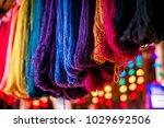 colored yarn of alpaca wool....   Shutterstock . vector #1029692506