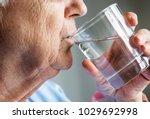 side view of elderly woman... | Shutterstock . vector #1029692998