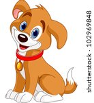 Illustration Of Cute Puppy ...