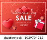 happy valentines day sale... | Shutterstock .eps vector #1029704212