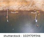 aerial shot of a chilean beach...   Shutterstock . vector #1029709546