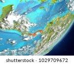 satellite view of panama... | Shutterstock . vector #1029709672