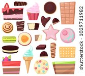 confectionery sweets vector... | Shutterstock .eps vector #1029711982