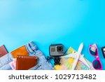 travel accessories costumes... | Shutterstock . vector #1029713482