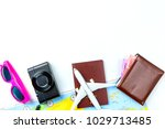 travel accessories costumes... | Shutterstock . vector #1029713485