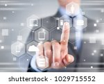 business and technology concept | Shutterstock . vector #1029715552