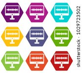 sound waves icon set many color ... | Shutterstock .eps vector #1029723502