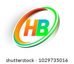 initial letter hb logotype...